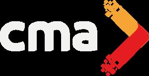 logotipo cma comunicacion negativo