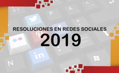 Resoluciones en distintas redes sociales